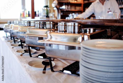 Fotobehang Buffet, Bar partyservice