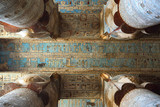 Interior of ancient egypt temple in Dendera