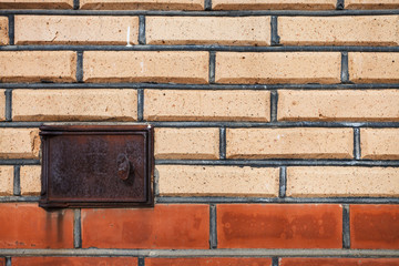 finishing bricks wall with ashpit door