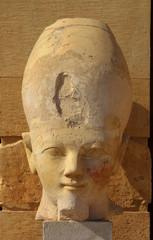 Hatshepsut head in temple near Luxor in Egypt