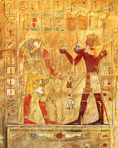 Fotobehang Egypte ancient egypt color images