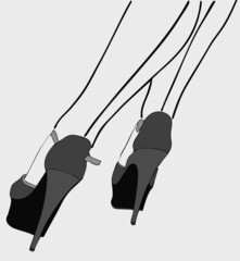 Graphic design of the legs of a woman