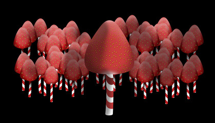 Strawberry forest edges