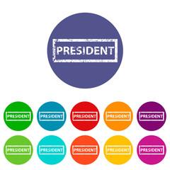 President flat icon