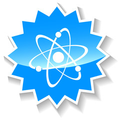 Atom blue icon