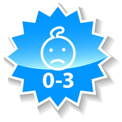 Baby ban blue icon