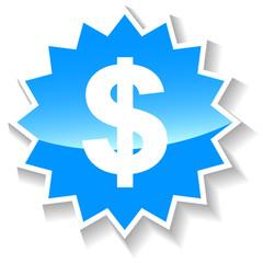 Dollar blue icon
