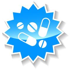 Medicine blue icon
