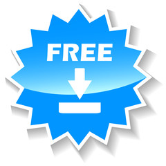 Free download blue icon