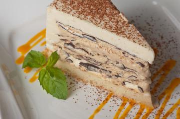 chocolate cake with jam ice cream