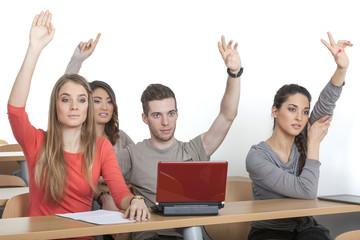 Gruppe vierer Studenten