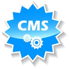 Cms blue icon