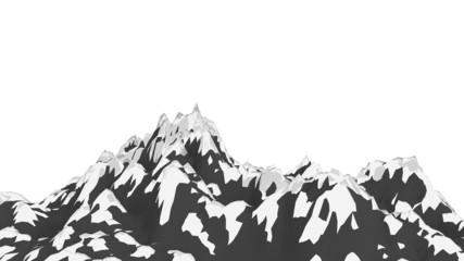 Snowy Mountain Illustration
