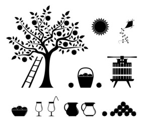 apple harvest icons
