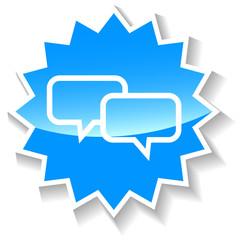 Dialog blue icon