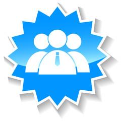Leader blue icon