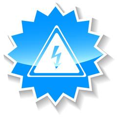 Voltage blue icon