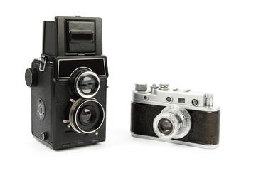 Two retro film cameras