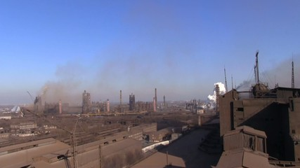 Metallurgical Plant in Krivoy Rog Ukraine view from the top