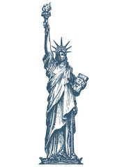 USA logo design template. United States or statue of liberty