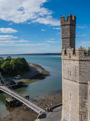 View from Caernarfon Castle on the river Seiont
