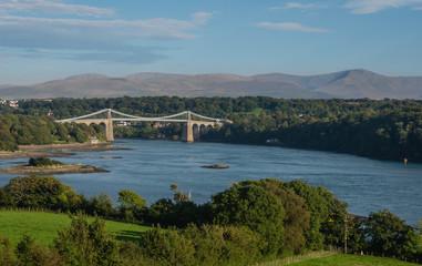 Menai Suspension Bridge, Anglesey, Wales