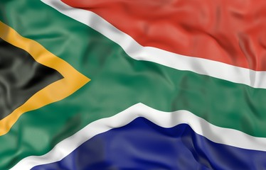 South Africa corrugated flag 3D illustration