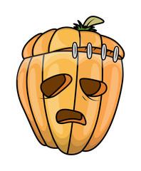 Jack-O'-Lantern Cartoon - Halloween Vector Illustration