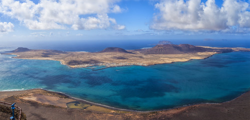 Panorama of La Graciosa. Lanzarote, Canary Islands, Spain