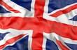United Kingdom corrugated flag 3D illustration