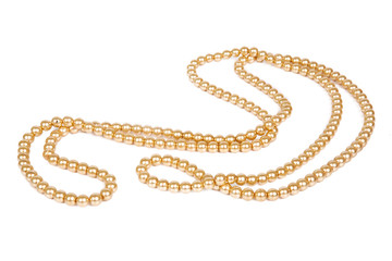 Chains of pearls forming an ornament