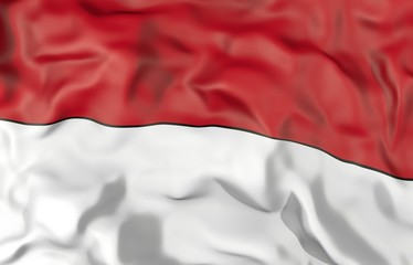 Indonesia corrugated flag 3D illustration