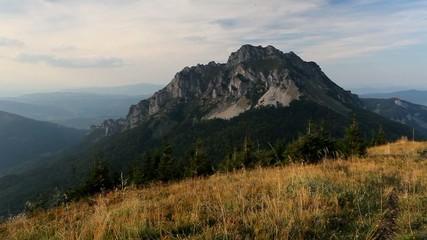 Slovakia mountain peak Rozsutec - Time lapse