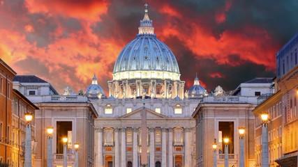 Vatican, Rome, St. Peter's Basilica, Time lapse motion