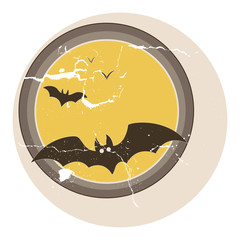 Bats Flying Vector - Vintage Graphic