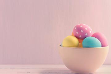 Bowl of Easter eggs