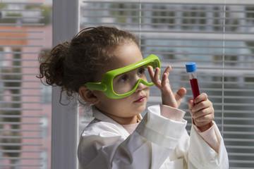 girl in lab coat