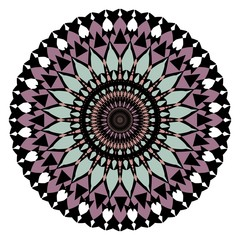 Symmetric rosette in art deco style in muted ancient colors