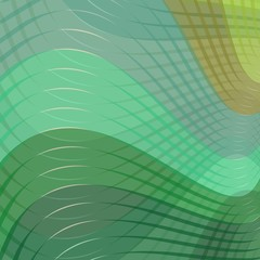 Modern abstract background in green color shade with wave curves