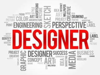 DESIGNER word cloud concept