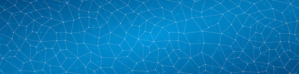 Abstract background, geometry, lines points, quadrangles, blue