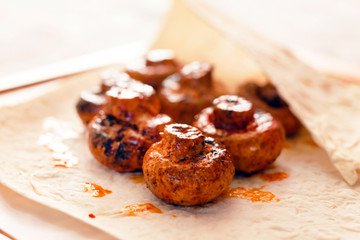 grilled mushrooms