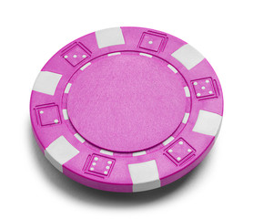 Pink Poker Chip