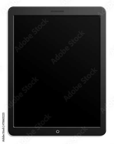 Modern computer tablet with blank screen - 78663223