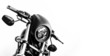 canvas print picture - Black harley motorcycle