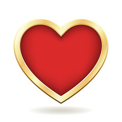 Red Heart with Golden Frame