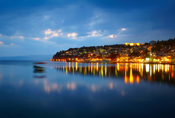 Ohrid lake after sunset