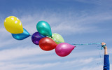 Fototapety colorful balloons on the background of blue sky
