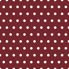 Dotted Background, Marsala, White, Vector, Repeats Seamlessly