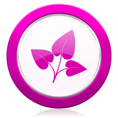 leaf violet icon nature sign